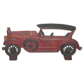 Antique Original Painted Car Door Stop For Sale