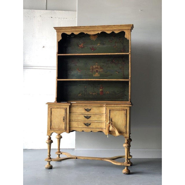 Mid 19th Century 19th C. Continental Motif Painted Cupboard For Sale - Image 5 of 7
