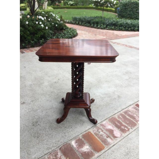 Corkscrew Leg Side Table - Image 2 of 5