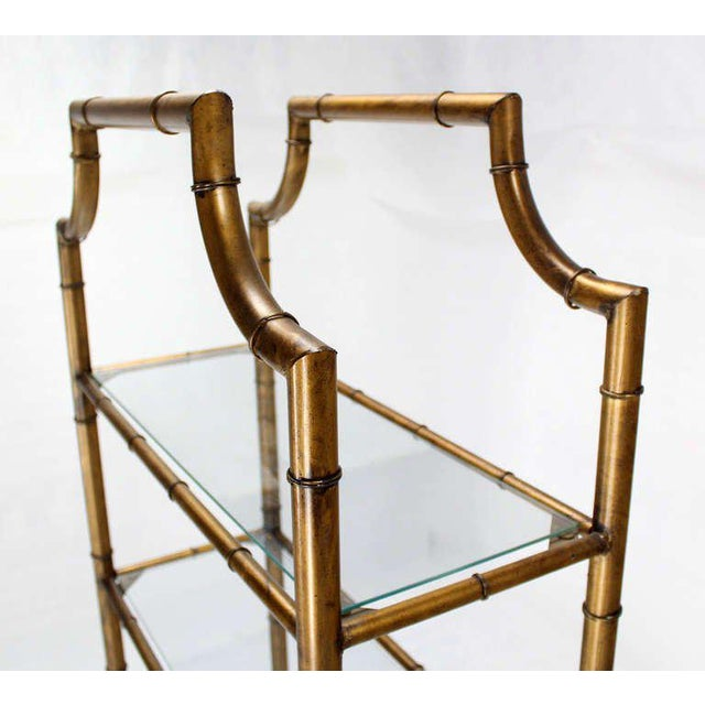 Mid-Century Modern Five-Tier Faux Bamboo Etagere Shelving Unit For Sale - Image 10 of 10