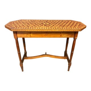 Federalist Geometric Marquetry Entry Table