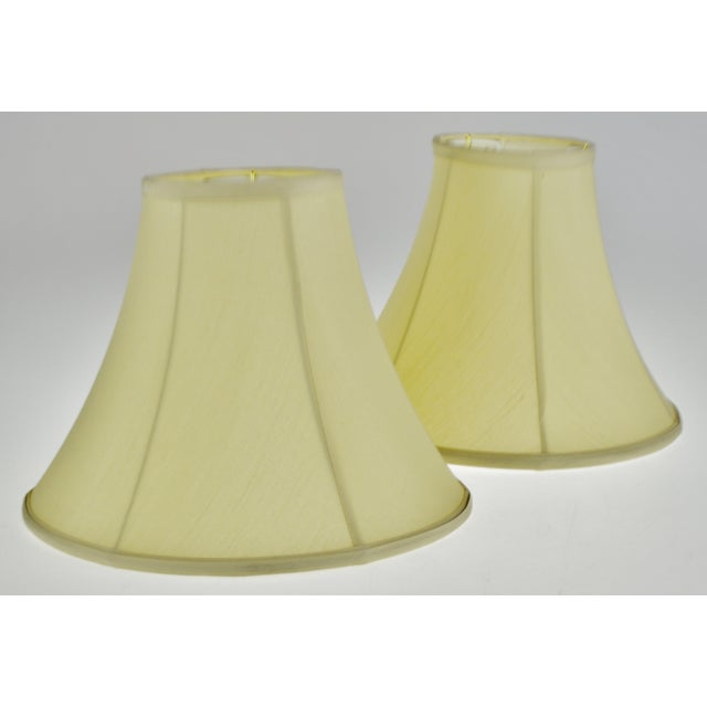 Vintage Bell Shape Fabric Lamp Shades - a Pair For Sale - Image 12 of 13