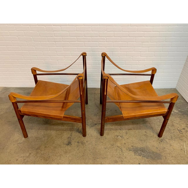 Abel Gonzalez Safari Sling Lounge Chairs - a Pair For Sale - Image 9 of 13