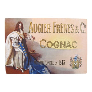 1900s French Cognac Poster, Augier Freres For Sale