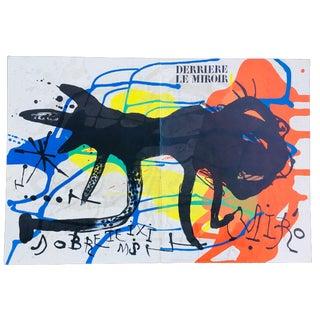 Joan Miró Derrière Le Miroir Lithograph Print For Sale