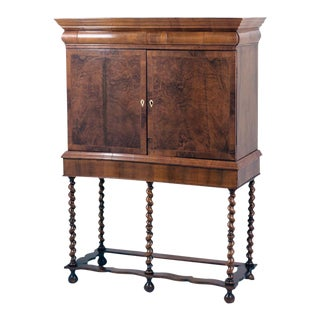 Early 18th Century Queen Anne Collectors Cabinet on Stand For Sale