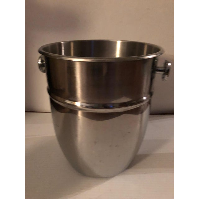 Metal Vintage Stainless Steel Champagne Ice Bucket For Sale - Image 7 of 7