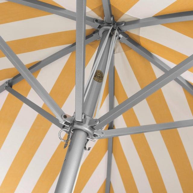Contemporary Monte Carlo Gold 9' Patio Umbrella, Light Yellow & White For Sale - Image 3 of 4