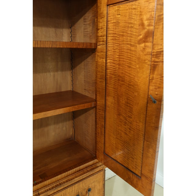 Benchmade Tiger Maple Linen Press Armoire Cabinet For Sale In Philadelphia - Image 6 of 13