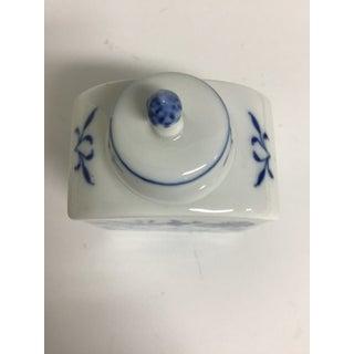 Vintage Meissen Porcelain Tea Caddy With Blue Flowers Preview