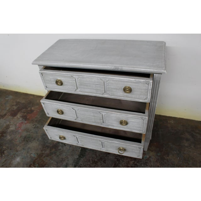 Early 20th Century 20th Century Vintage Swedish Gustavian Style Nightstands - a Pair For Sale - Image 5 of 11