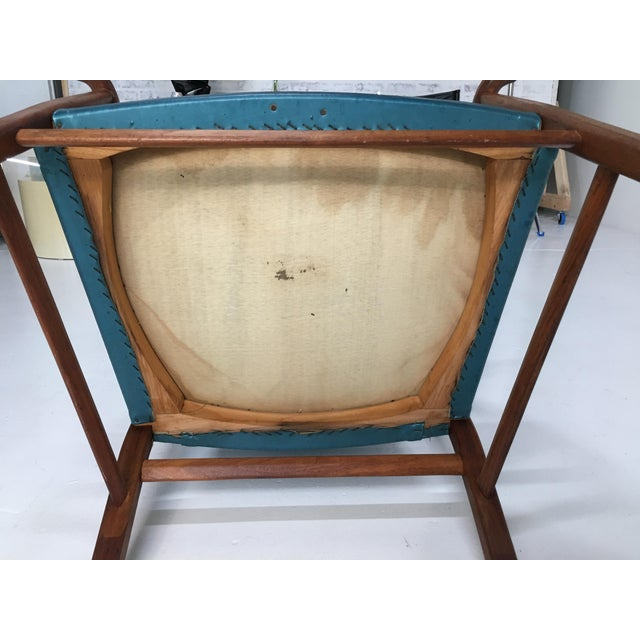 Mid-Century Walnut Ming Horseshoe-Style Slipper Armchair For Sale - Image 11 of 13
