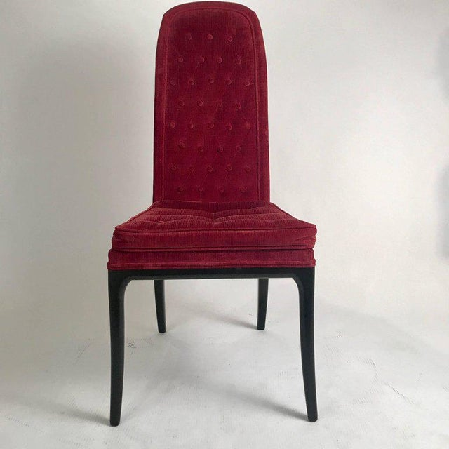Textile 1960s Vintage Original High Back Tufted Erwin-Lambeth for Tomlinson Armchairs- Set of 6 For Sale - Image 7 of 9