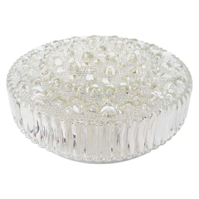 Mid-Century Modern Large Mid-Century Bubble Glass Light For Sale - Image 3 of 3