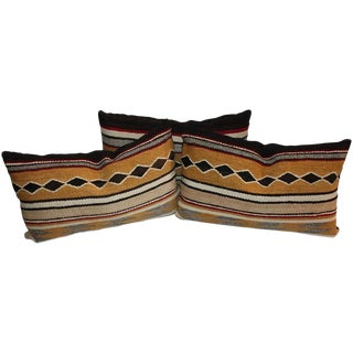 Group of Three Chinle Navajo Weaving Pillows For Sale
