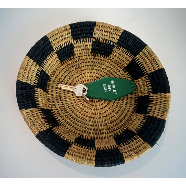 Handwoven African Catch All Boho Chic Basket - Image 8 of 8