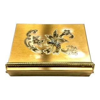 Vintage Renown Volupte Brass Vanity Case For Sale