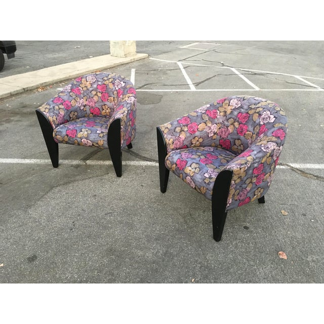 Modern 1990s Post Modern Club Chairs - a Pair For Sale - Image 3 of 10