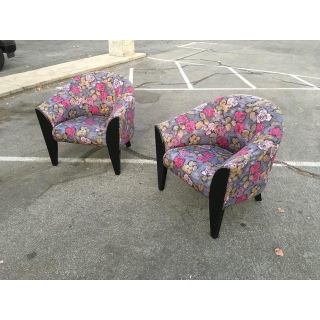 Modern 1990s Vintage Dakota Jackson Post Modern Club Chairs- A Pair For Sale - Image 3 of 10