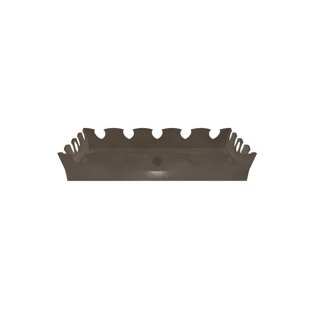 Oomph Ocean Drive Outdoor Tray, Dark Gray For Sale In New York - Image 6 of 7