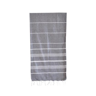 Black Striped Turkish Hammam Towel For Sale