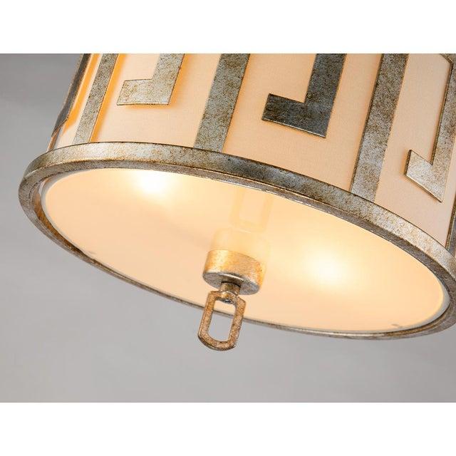 Traditional Flora 2 Light Pendant - Semi Flush, Medium, Distressed Silver For Sale - Image 3 of 6