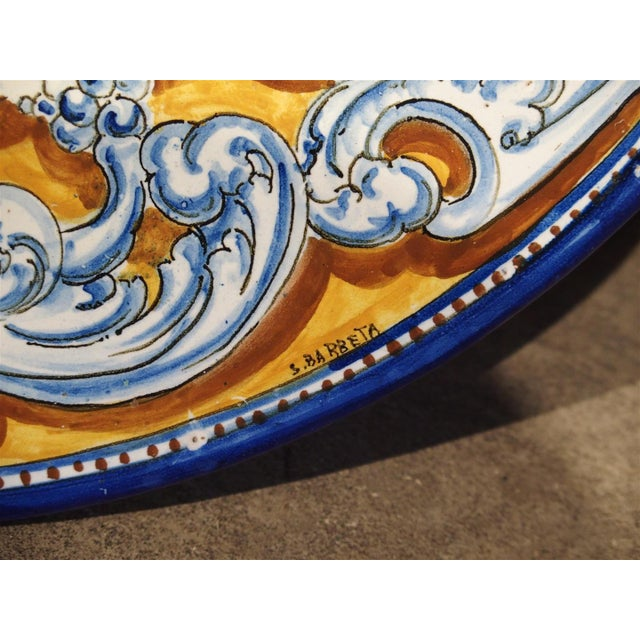 Ceramic Antique Renaissance Style Platter from Spain For Sale - Image 7 of 10