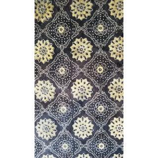 Cotton Velvet Block Print Fabric- 10 Yards For Sale