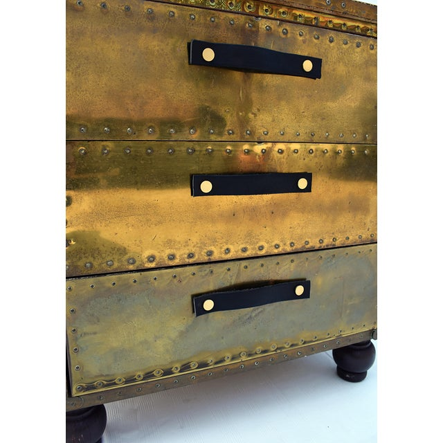 Sarreid Brass 3-Drawer Chest For Sale In Los Angeles - Image 6 of 8