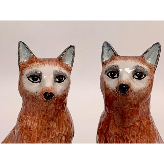 Italian Italian Ceramic Fox Bookends – a Pair For Sale - Image 3 of 12