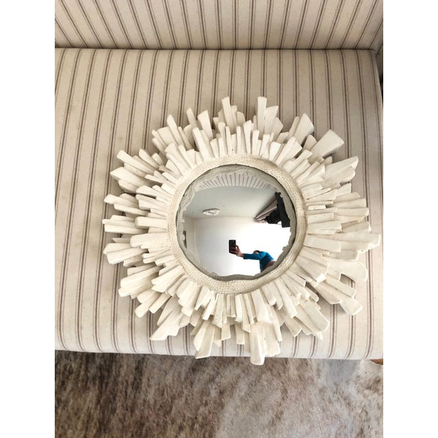Contemporary French Plaster Sunburst Mirror For Sale - Image 3 of 3