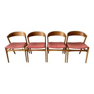 Mid-Century Vintage Dux Swedish Ribbon Back Chairs- Set of 4 For Sale