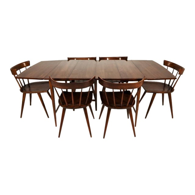 Mid Century Modern Paul McCobb Solid Maple Drop Leaf Dining Set - 7 Pieces For Sale