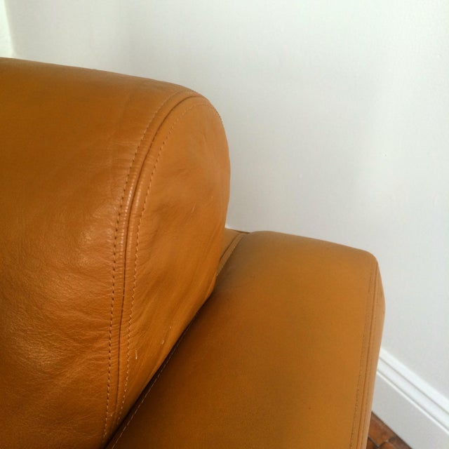 John Geiger Camel-Colored Leather Club Chair - Image 7 of 8