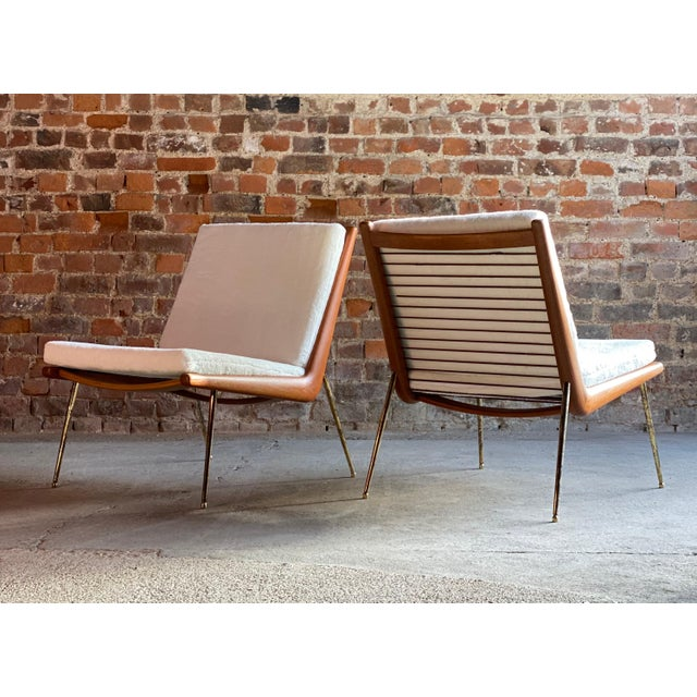 Boomerang Chairs France & Son Peter Hvidt & Orla Mølgaard Nielsen, 1950s - A Pair For Sale - Image 11 of 13