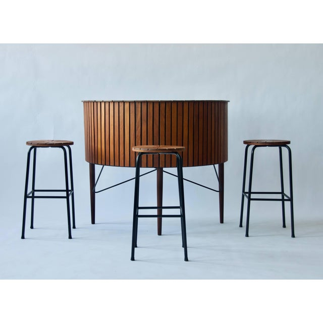 Cool 1960 Danish Bar And Stools Gamerscity Chair Design For Home Gamerscityorg