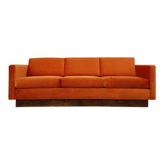 1970s Style Burnt Orange Sofa For Sale