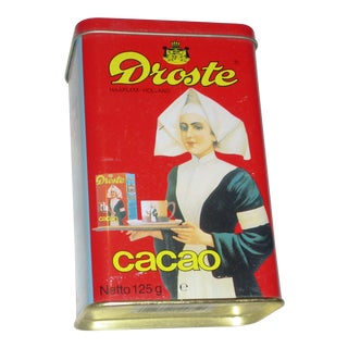 Colorful Dutch Cocoa Tin For Sale