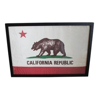 Framed California Republic Flag For Sale