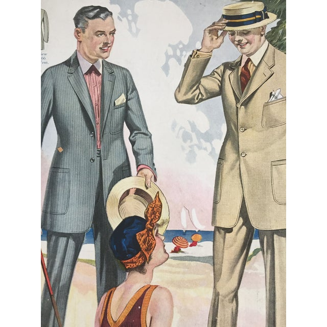 Art Deco 1923 Tailor's Summer Fashion Print For Sale - Image 3 of 3