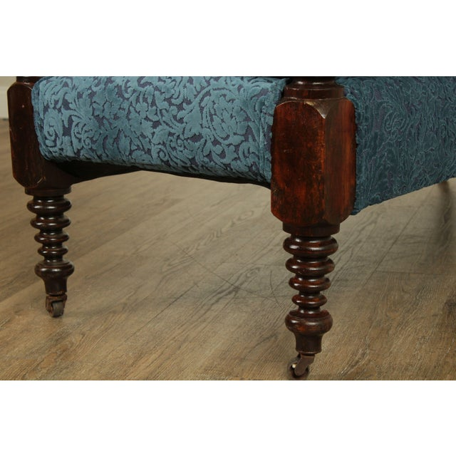Antique 19th Century Bobbin Turned End of Bed or Window Bench For Sale - Image 9 of 13
