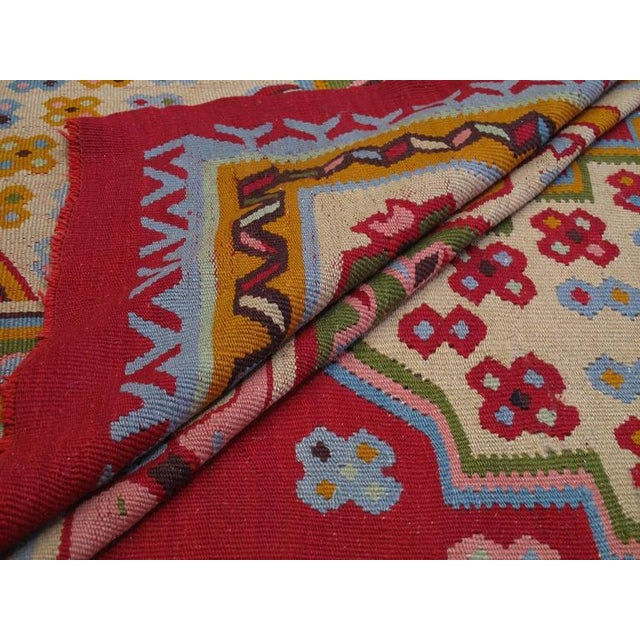 Textile Fantastic Antique Oushak Kilim For Sale - Image 7 of 10