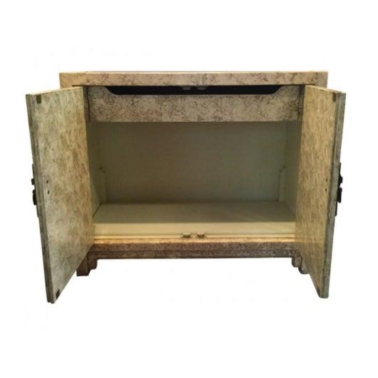 Asian Vintage Henredon Faux Tortoiseshell Cabinet For Sale - Image 3 of 5