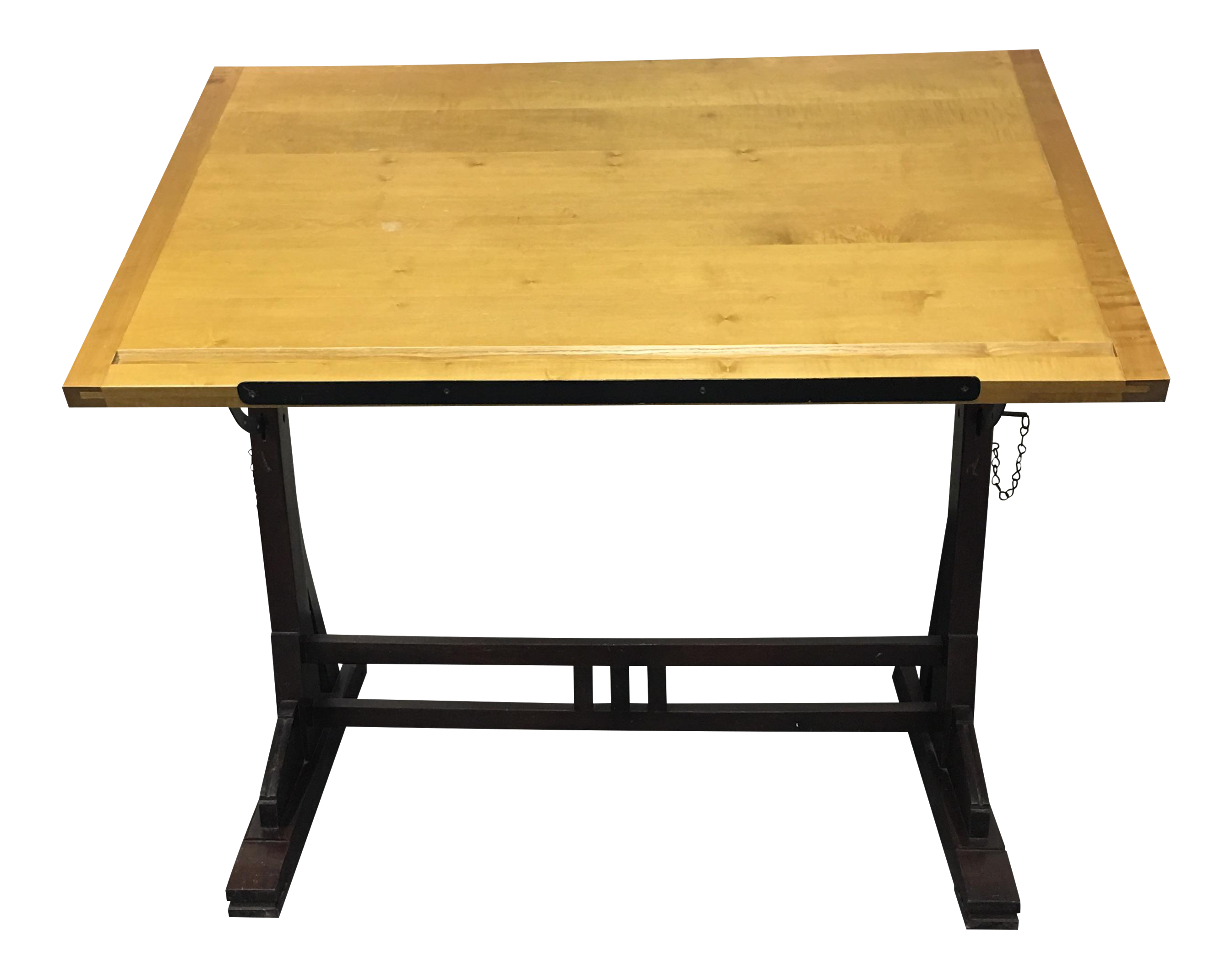 Merveilleux Restoration Hardware 1920s French Drafting Table For Sale