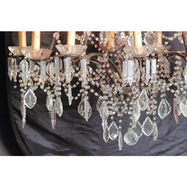 19th Century Italian 18-Light Crystal Chandelier For Sale - Image 5 of 10