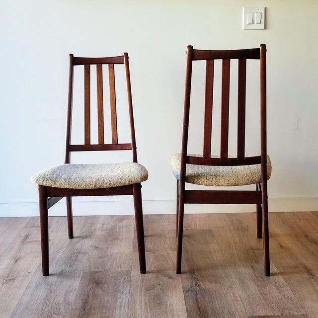 Danish Mid-Century Modern High Back Dining Chairs - Set of 8 For Sale - Image 4 of 13