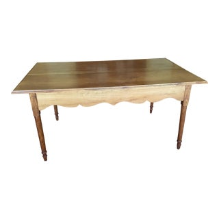 Antique Country Walnut Dining Table For Sale