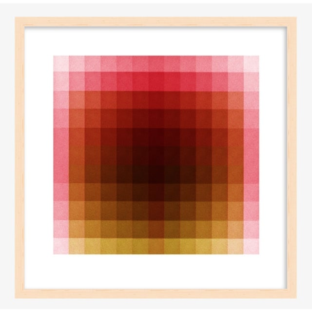 """Contemporary Color Space Series 37: Hot Pink, Acid Green Print, by Jessica Poundstone 20"""" X 20"""" For Sale - Image 3 of 7"""