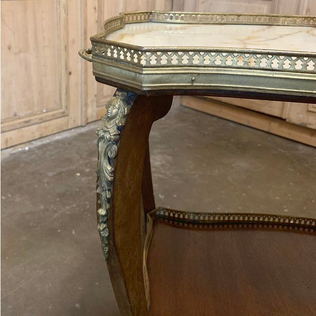 19th Century French Louis XVI Marble Top End Table For Sale In Dallas - Image 6 of 13