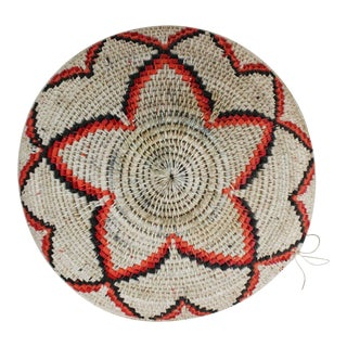 20th Century Southwestern Orange Artisan Basket For Sale